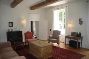 Sitting room at Maison Les Bardons.