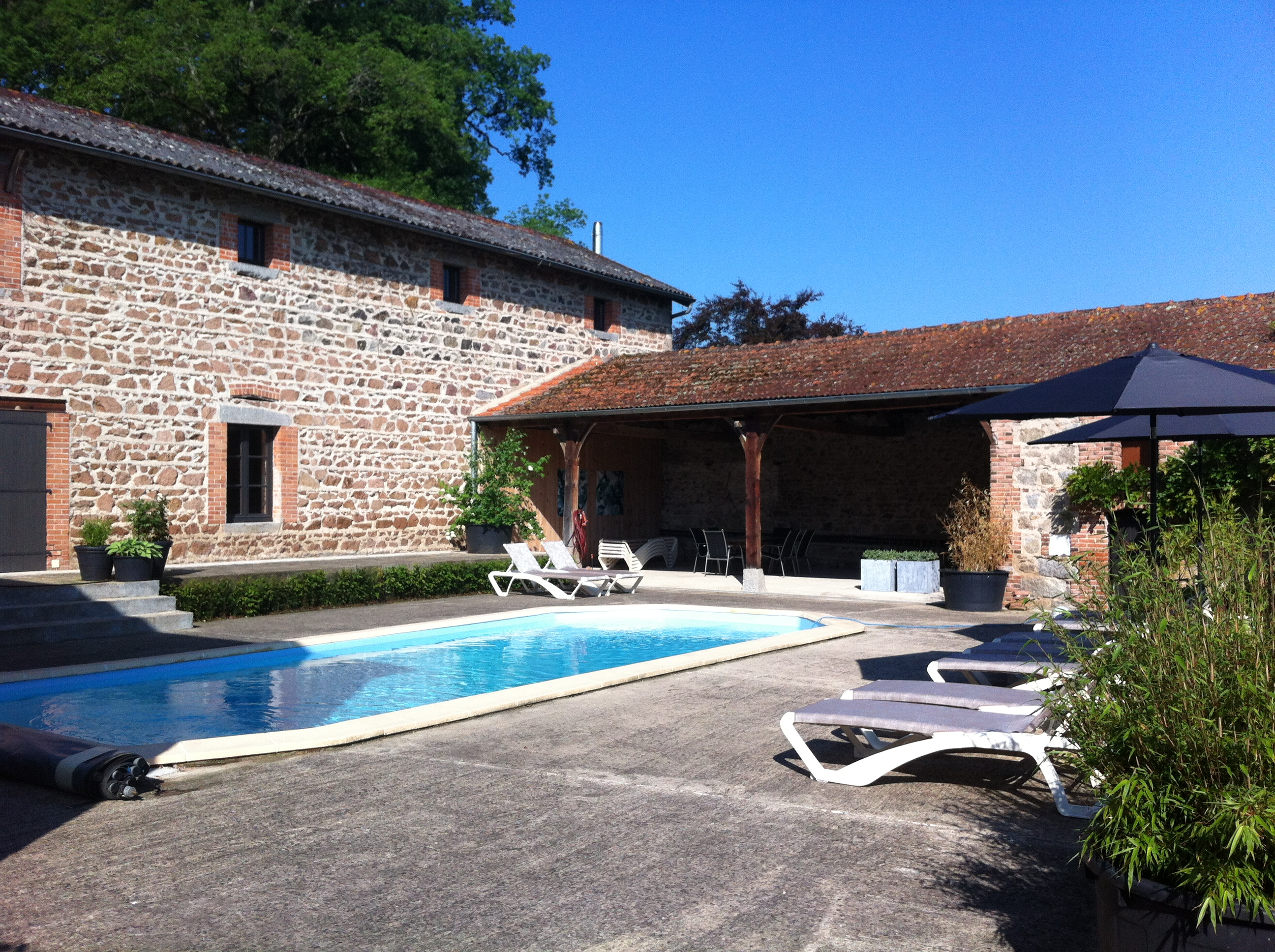 Heated Swimming pool Maison Les Bardons