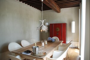 Dinning room with philippe starck chairs