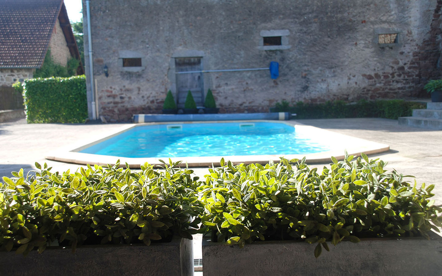 Heated pool at Maison Les Bardons